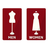 Toilet Sign, Fitting room sign Stock Images