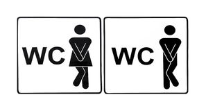 Toilet sign. Funny signboards. Germany Royalty Free Stock Photo