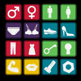Toilet Sign Icon set Stock Image