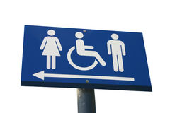Toilet sign isolated on white Stock Image