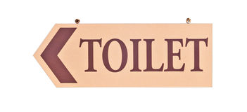 Toilet sign isolated Royalty Free Stock Images