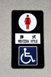 Toilet sign in Japan Royalty Free Stock Photo