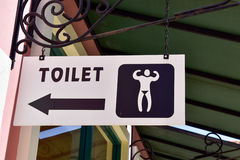 Toilet sign for male. Royalty Free Stock Image