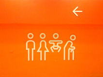 Toilet Sign Royalty Free Stock Images