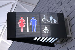 Toilet sign. Male and female toilet sign in Japan Royalty Free Stock Photography