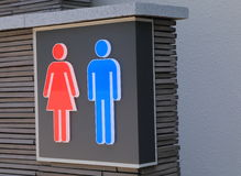 Toilet sign. Male and female toilet sign in Japan Stock Photos