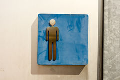 Toilet sign man old Royalty Free Stock Photo
