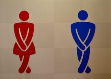 Toilet sign. With a man and a woman Royalty Free Stock Photos