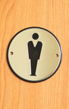 Toilet sign for men Royalty Free Stock Images