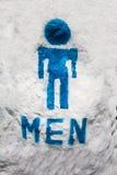 Toilet sign of men Royalty Free Stock Photos