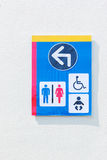 Toilet sign for men women baby and cripple Royalty Free Stock Photo