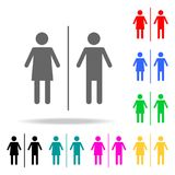 Toilet sign men and women icon. Elements in multi colored icons for mobile concept and web apps. Icons for website design and deve. Lopment, app development on Royalty Free Stock Image
