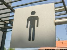 Toilet sign room at the park. In thailand Royalty Free Stock Photo