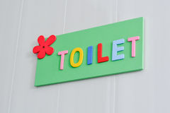 Toilet sign. Stock Photo