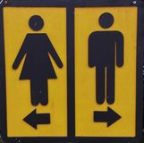 Toilet sign. Restroom direction Stock Photo