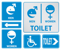 Toilet sign varicolored, easy to edit  Royalty Free Stock Photography