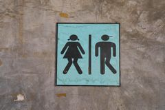 Toilet sign. Royalty Free Stock Images