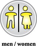 Toilet sign - WC men/women. On white background. vector image Stock Photo