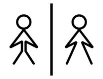Toilet sign - wc sign Stock Image