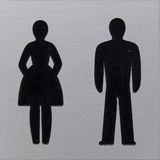 Toilet sign, women and man Stock Image