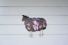 Toilet signage in sheep form Royalty Free Stock Images