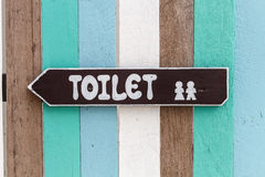 Toilet signpost. Royalty Free Stock Image