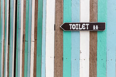 Toilet signpost. Stock Photo
