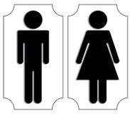 Toilet signs Stock Photos
