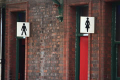 Toilet signs Stock Images