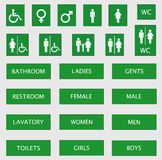 Toilet signs stock illustration