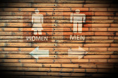 Toilet Signs male and female Royalty Free Stock Images