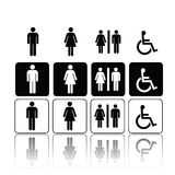 Toilet Signs, Man And Woman Royalty Free Stock Photography