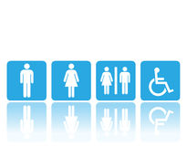 Toilet signs, man and woman Stock Photo