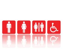 Toilet signs, man and woman Stock Image