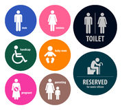 Toilet Signs Restroom Signboards Stock Photo