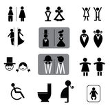 Toilet signs vector set Stock Images