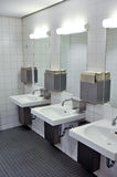 Public bathroom interior Stock Photo
