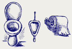 Toilet sketch Stock Photo