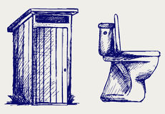Toilet sketch Stock Image