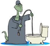 Toilet Snake Royalty Free Stock Images