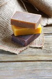 Toilet Soap with lavender, chocolate and juniper Royalty Free Stock Photography