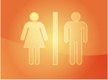 Toilet symbol illustration Royalty Free Stock Photography