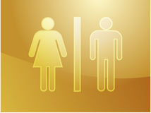 Toilet symbol illustration Stock Photos