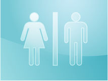 Toilet symbol illustration Stock Photo