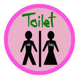 Toilet symbol Male and Female, toilet sign, toilet icon Stock Photography