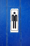 Toilet Symbol Men Close-up Restroom Royalty Free Stock Image