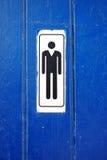 Toilet Symbol Men Close-up Restroom Royalty Free Stock Image