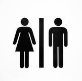 Toilet. Symbol of a public toilet Stock Photos