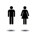 Toilet symbols. Man and woman symbols for toilets, washrooms, restroom, lavatory. isolated on white background Stock Photos