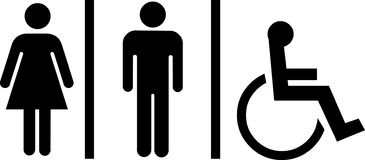 Toilet symbols Royalty Free Stock Photo
